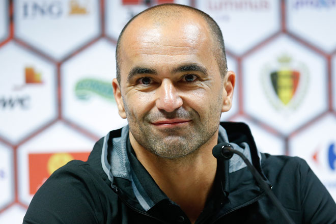 Belgiens spanischer Trainer Roberto Martinez. /AFP PHOTO / Belga / BRUNO FAHY / Belgium OUT