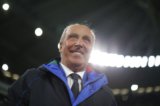 Italiens Trainer Giampiero Ventura. / AFP PHOTO / Marco BERTORELLO