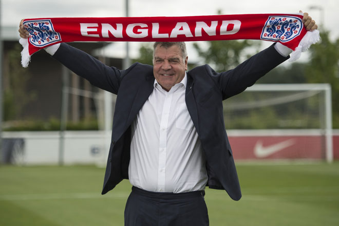 Englands alter Teammanager Sam Allardyce (Trainer von Juli 2016 - ende September 2016). / AFP PHOTO / OLI SCARFF