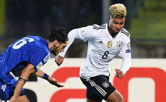 Serge Gnabry erzielt gleich drei Tore in seinem 1.Länderspiel! (Foto AFP)