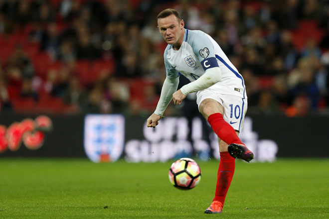 Englands Kapitän Wayne Rooney. / AFP PHOTO / Ian KINGTON
