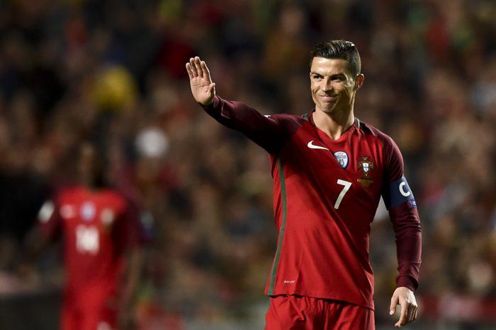 Cristiano Ronaldo führt mit 9 Treffern die Torschützenliste der WM-Quali an. AFP PHOTO.