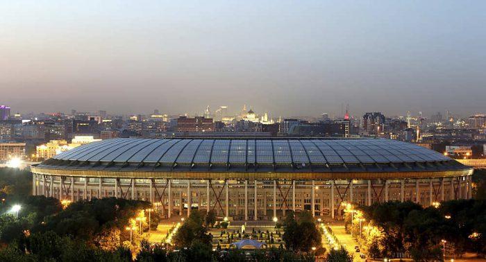 Das Olympiastadion Luschniki in Moskau