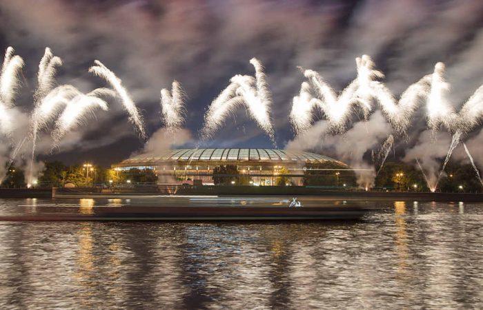 Das Olympiastadion Luschniki in Moskau bei der Eröffnung!