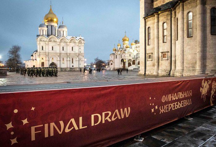 Die WM 2018 Auslosung in Moskau - live ab 16:15 Uhr imZDF (Foto AFP)