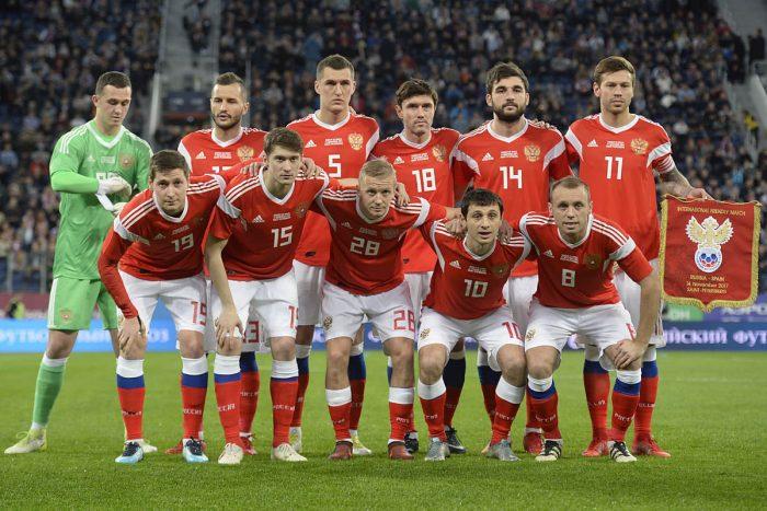 Russlands Nationalmannschaft spielt das WM-Eröffnungsspiel 2018 (Foto AFP)