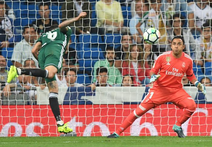 Der Keeper Costa-Ricas Keylor Navas, der bei Real Madrid unter Vetrag steht (Foto AFP)