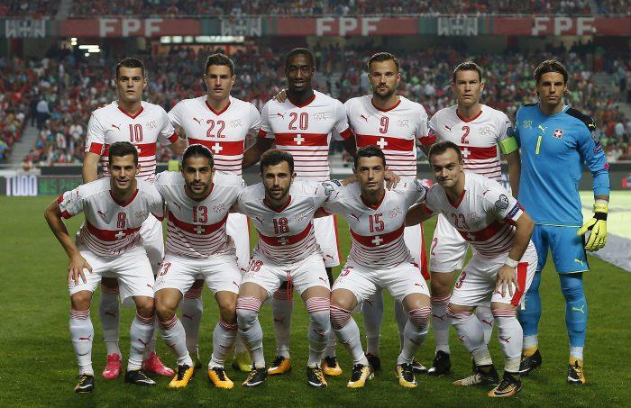 Die Schweizer Nationalmannschaft gegen Portugal in der WM-Qualifikation am 10.Oktober 2017. / AFP PHOTO / Francisco LEONG
