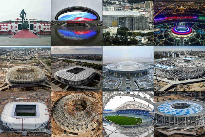 Die WM Stadien 2018 in Russland (Foto AFP)